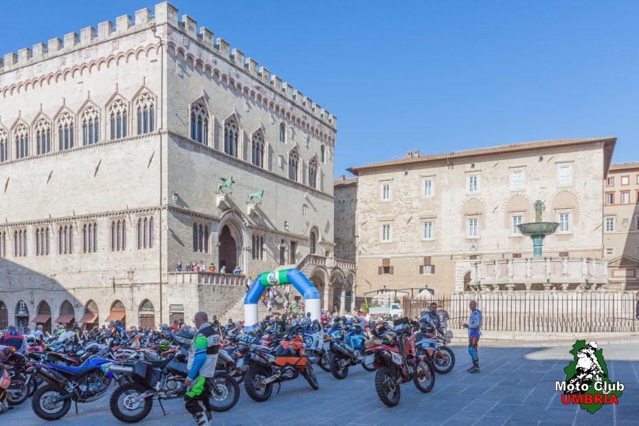 Decima edizione Rally dell'Umbria piazza IV novembre Perugia